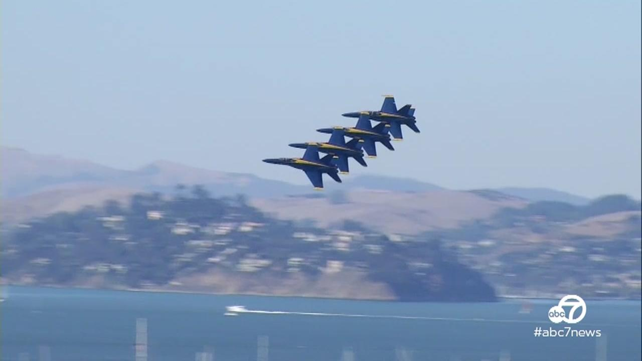 The Blue Angels soared above San Francisco on Friday, Oct. 6, 2017.