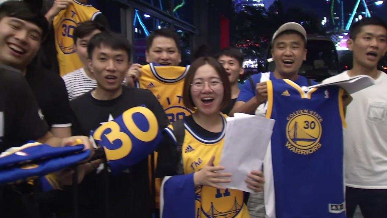 This is an undated image of Warriors fans in China.