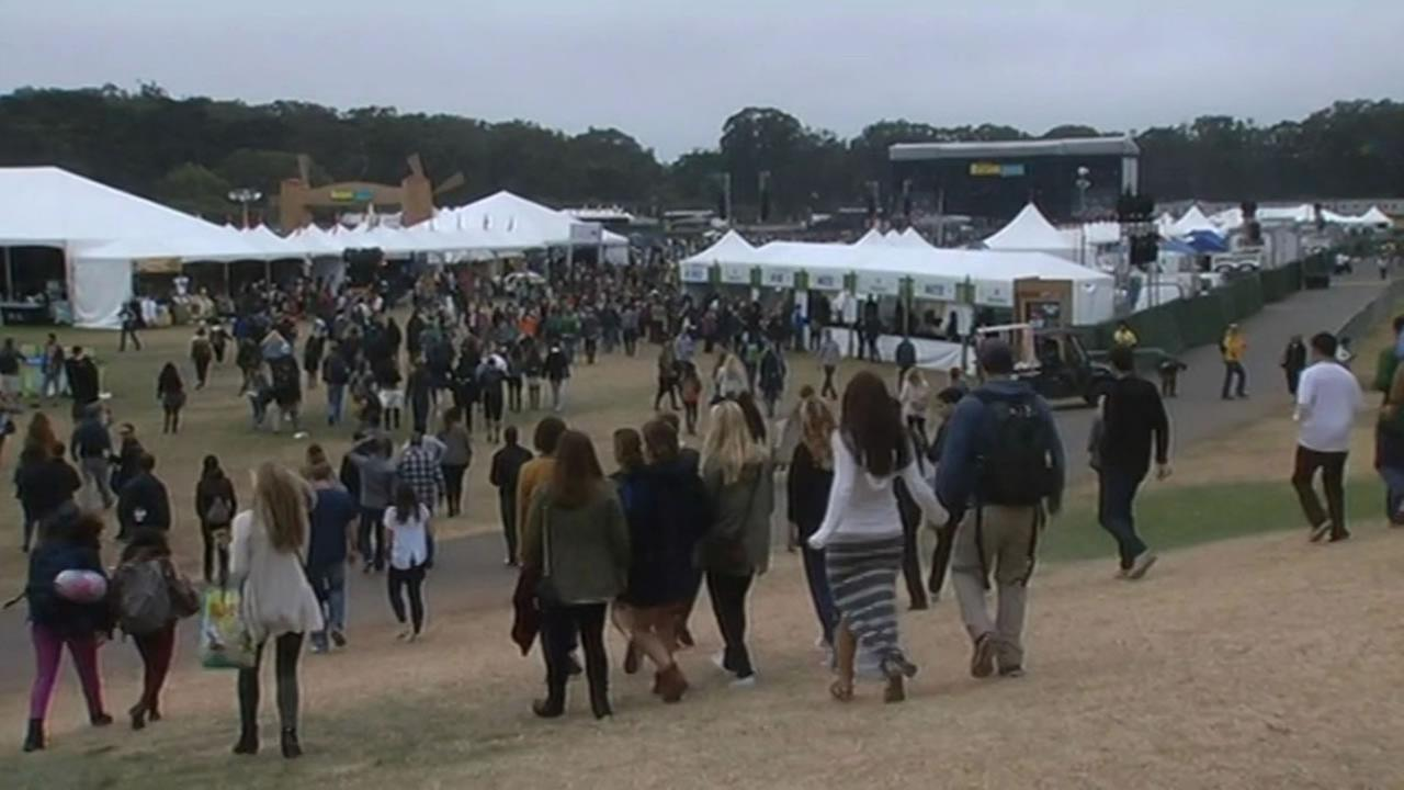 Outside Lands Music and Arts Festival in Golden Gate Park.
