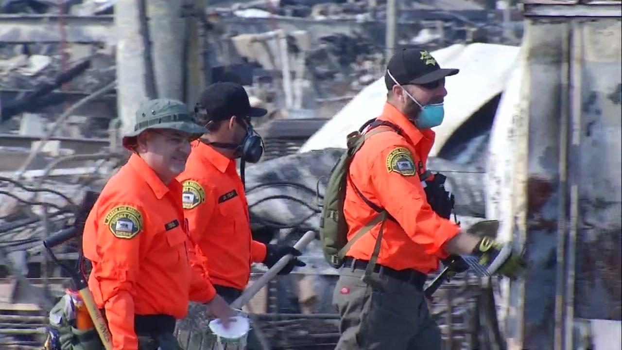 Rescuers search Journeys End mobile home park in Santa Rosa for human remains