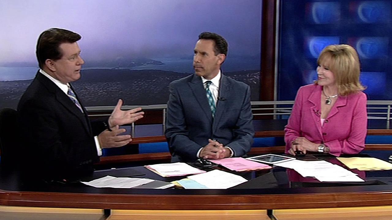ABC7 News Michael Finney, Larry Beil, and Cheryl Jennings