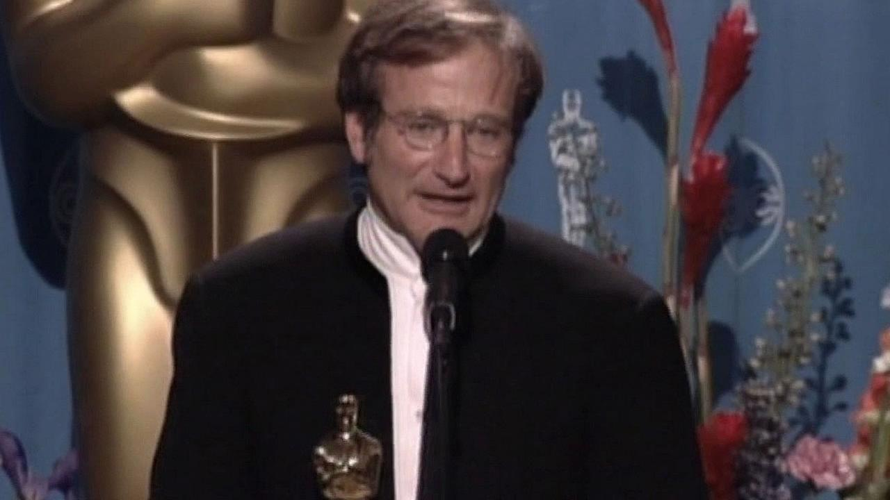 Robin Williams wins an Academy Award