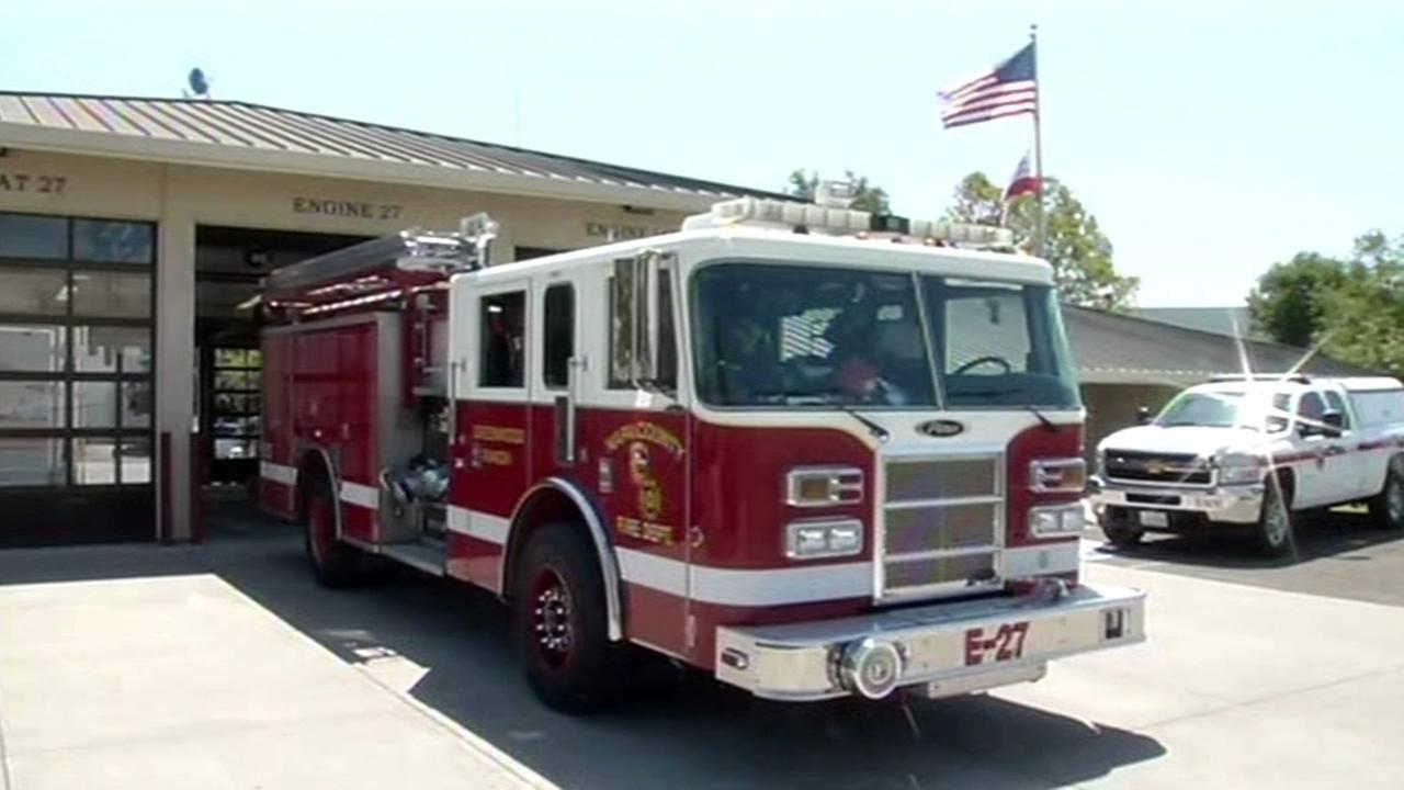 Napa County fire truck