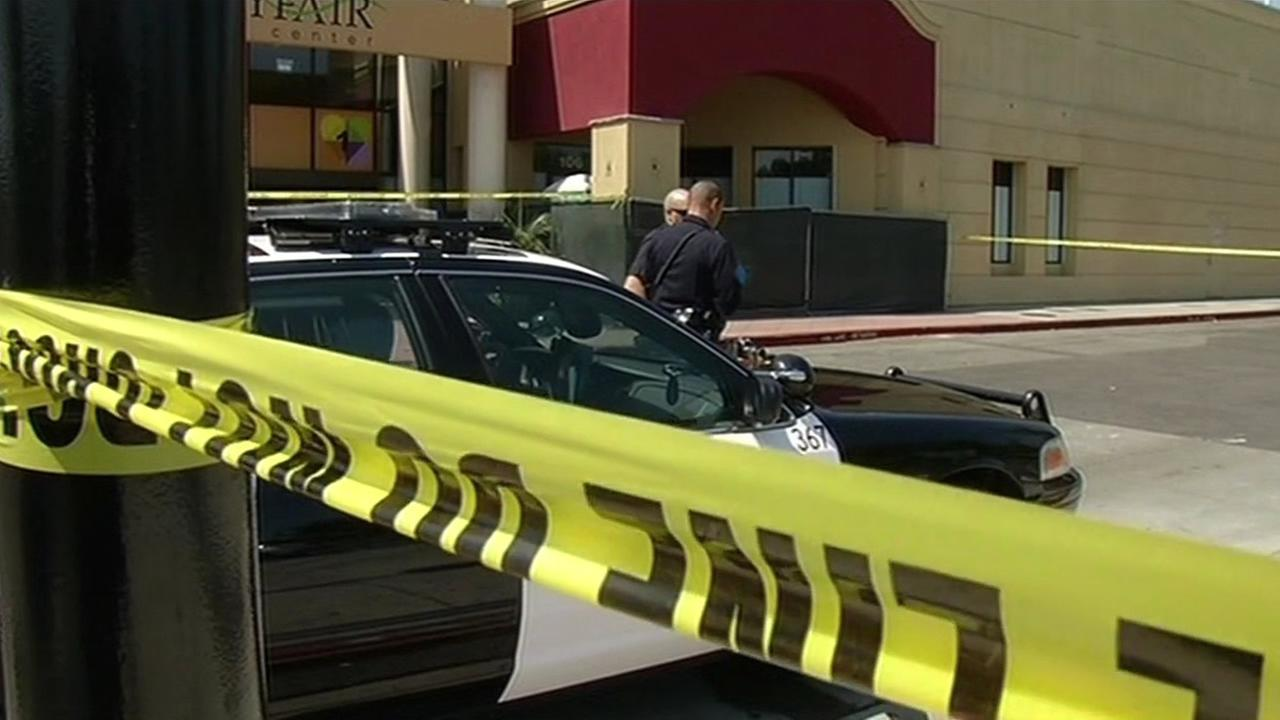 Shooting scene at Bayfair Mall