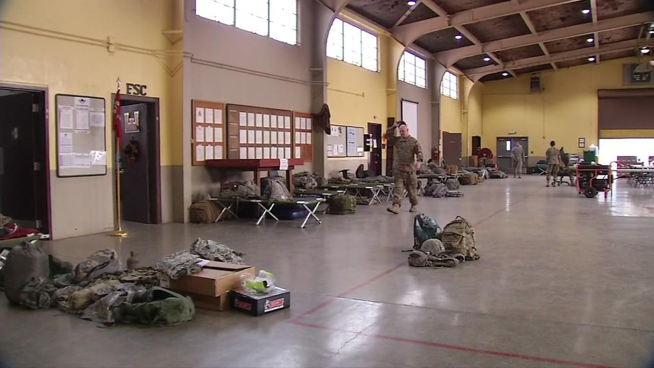 This is an image of the housing unit for the CA National Guard which is providing aid during the North Bay Wildfires, on Wednesday, OCt. 18, 2017.