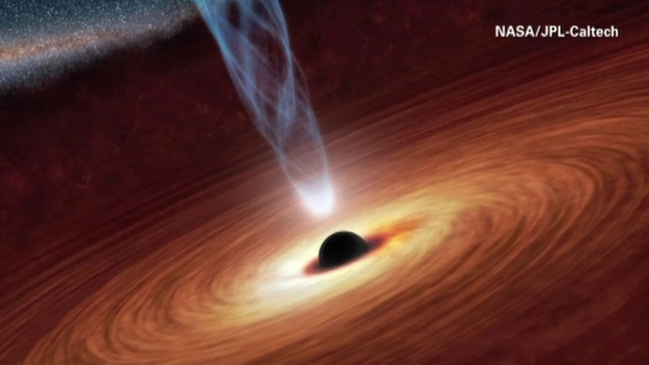 An extremely powerful telescope is giving people a rare view of a black hole.