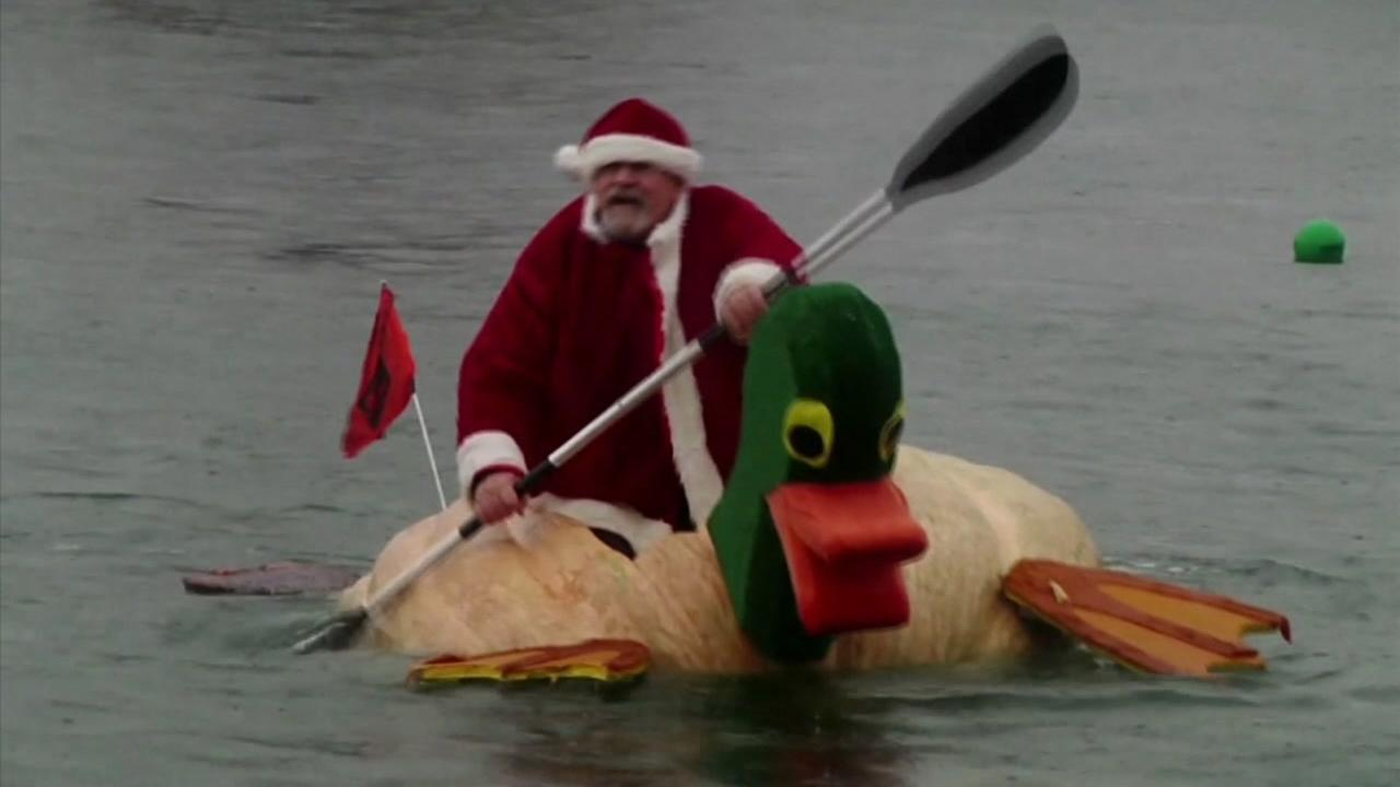 Santa Claus at Pumpkin regatta in Oregon, Saturday, October 21, 2017.