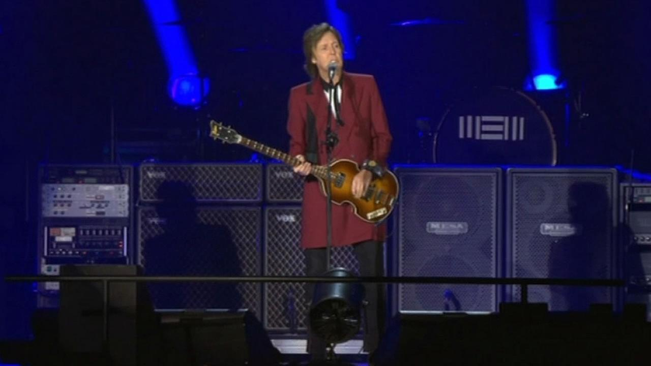 Sir Paul McCartney gave a concert at Candlestick Park