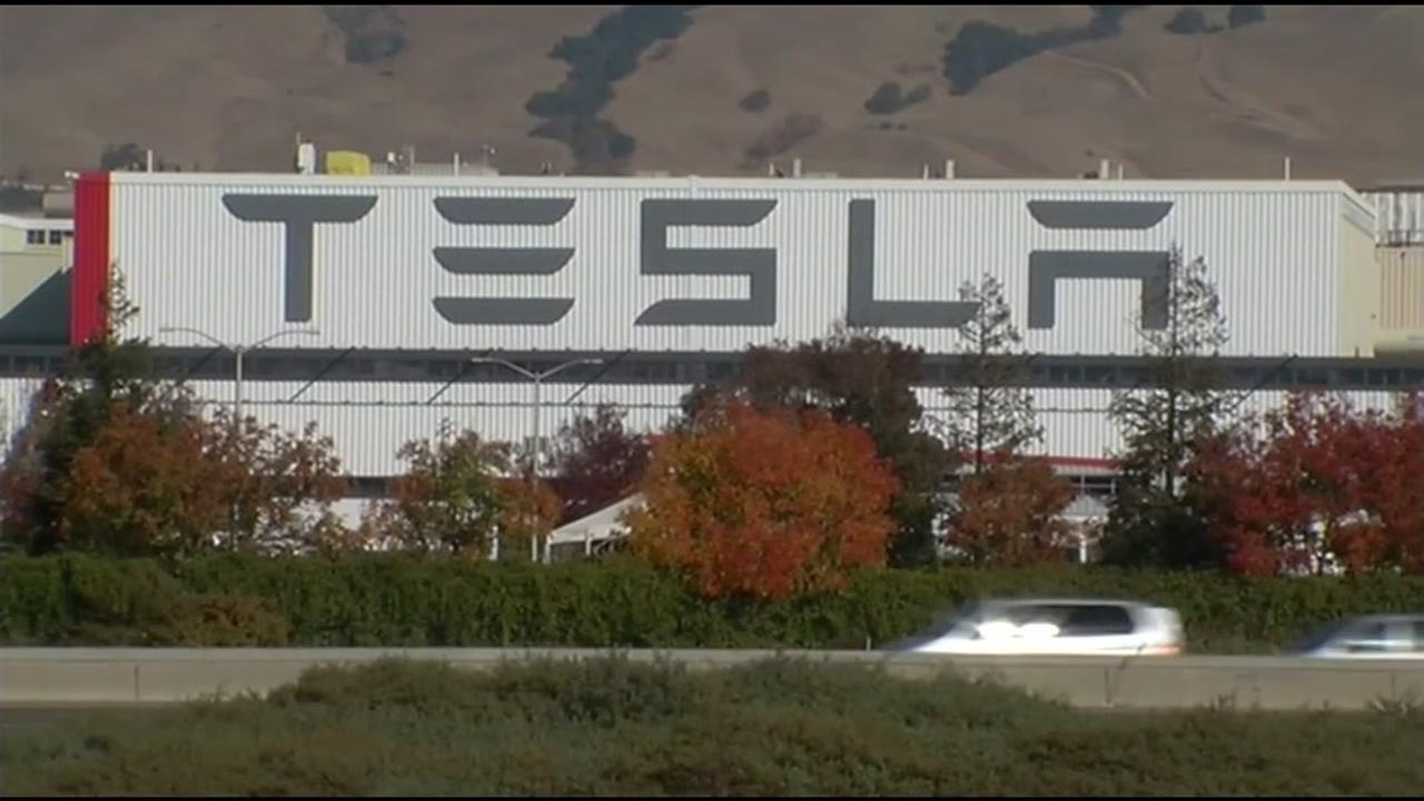 Teslas Fremont, Calif. plant is seen in this undated image.