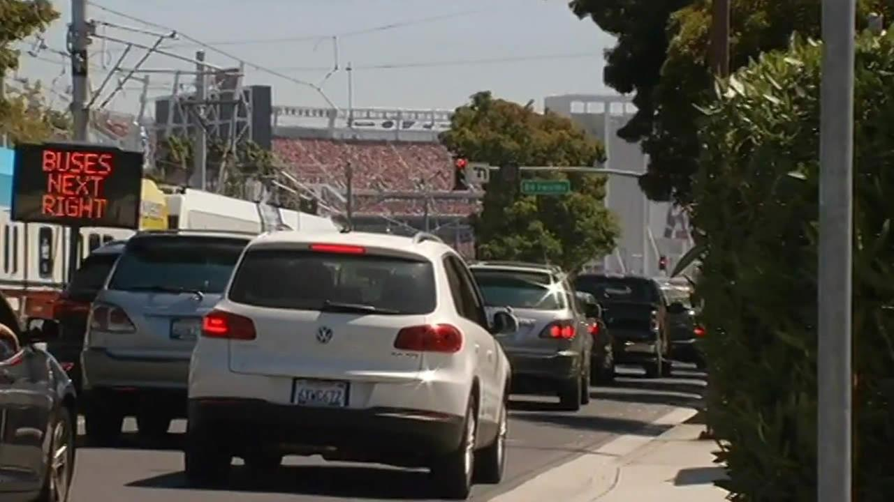 49ers fans faced heavy traffic to Levis Stadium