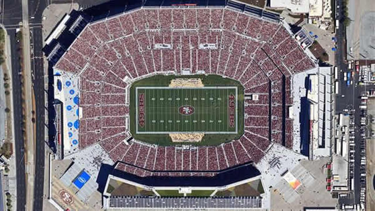 An aerial photo of Levis StadiumPhoto submitted via uReport by Brian H./Skyhawk Photography