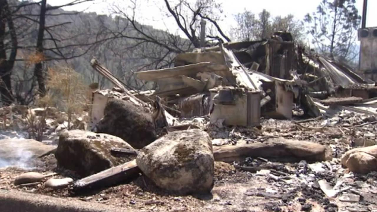Home destroyed in Madera County, caused by a wildfire