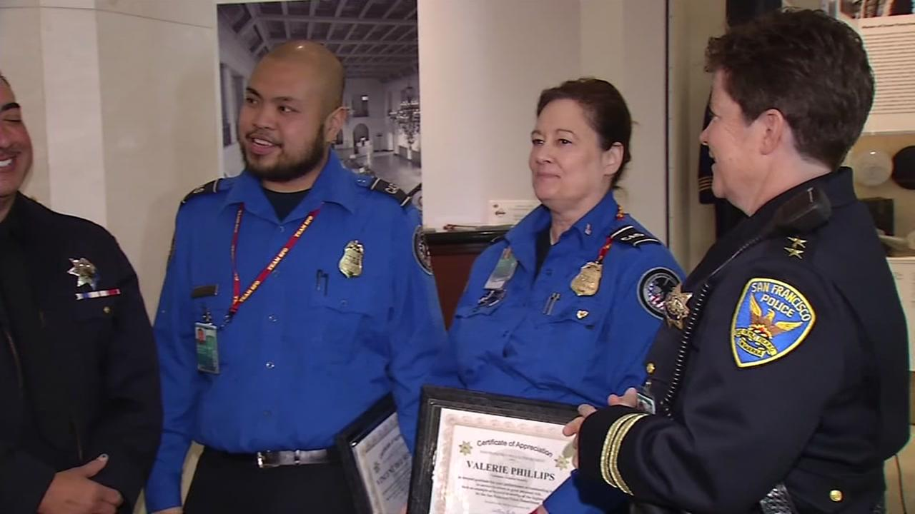 Off-duty officers honored for action during stabbing at San Francisco International Airport