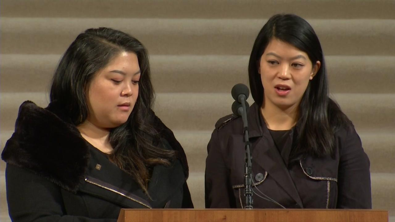 VIDEO: Tania and Brianna Lee speaks at their father SF Mayor Ed Lees memorial service