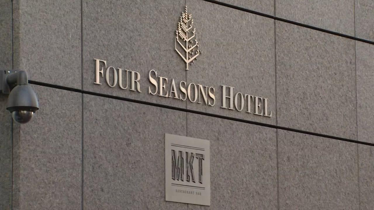 The exterior of the Four Seasons Hotel is seen in San Francisco, California in this undated image.