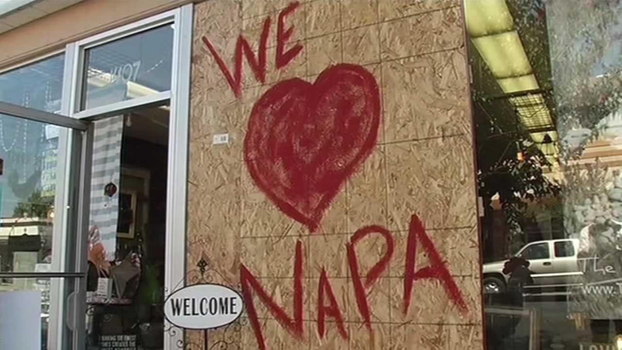 Downtown Napa businesses want the public to know they are open, despite the earthquake.
