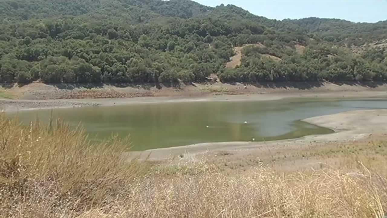 Chesbro Reservoir in Morgan Hill is only at 1.9 percent of capacit
