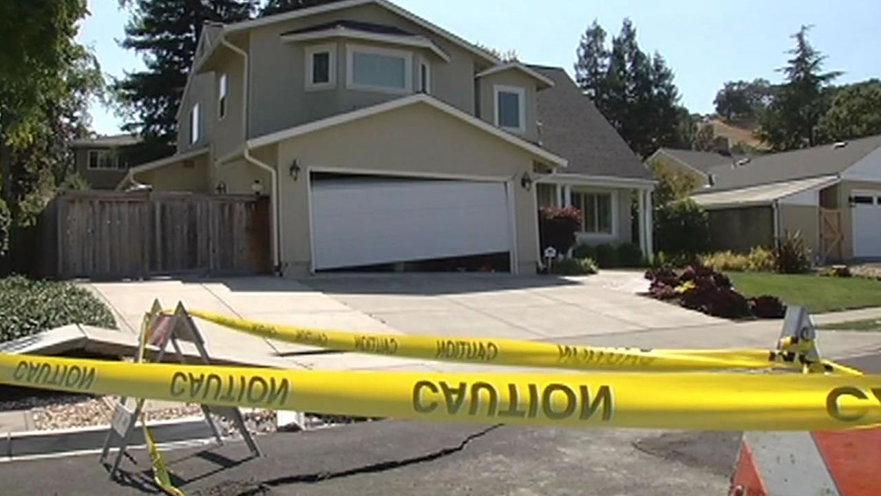home in Napa was badly damaged due to the South Napa earthquake