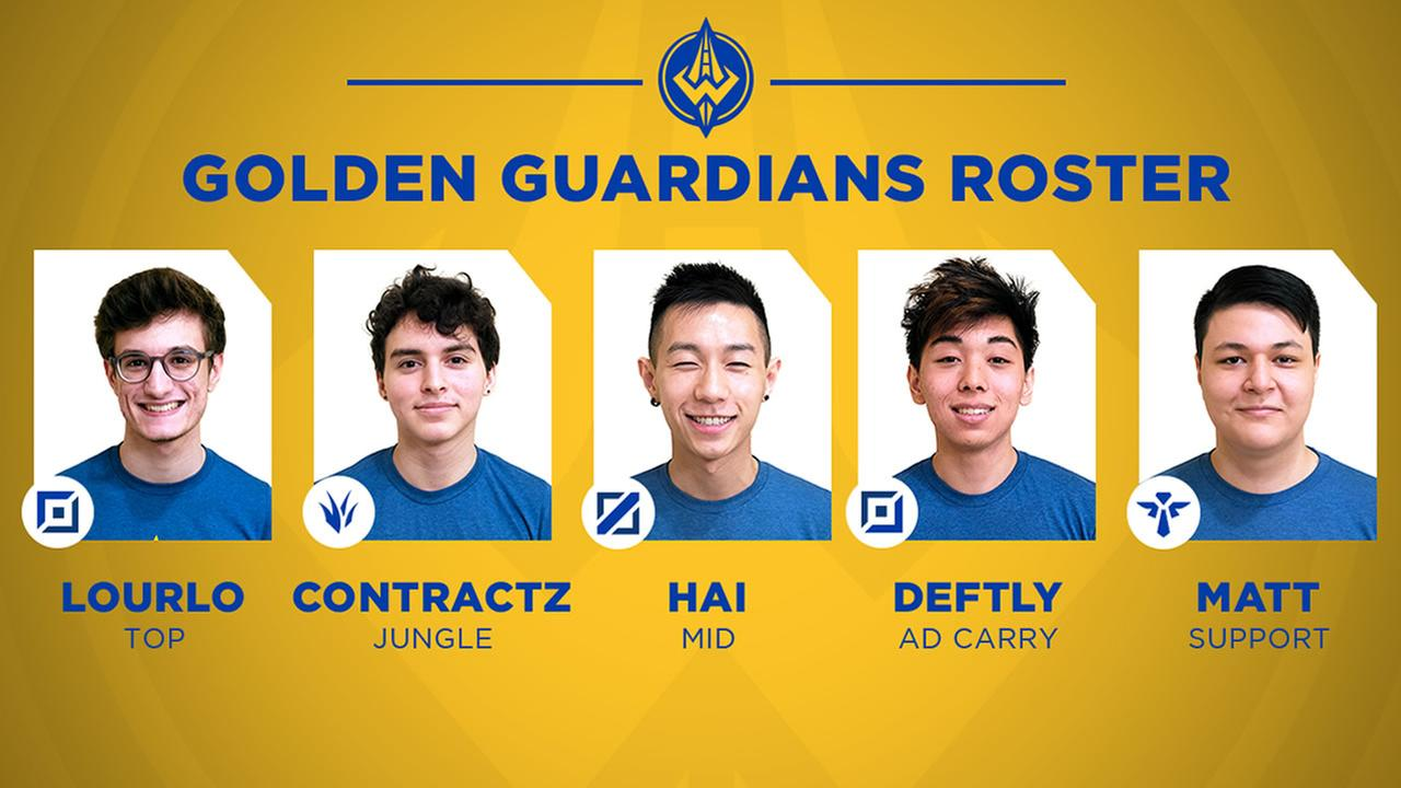 The Golden State Warriors Golden Guardians Esports team appears in this undated promotional image.