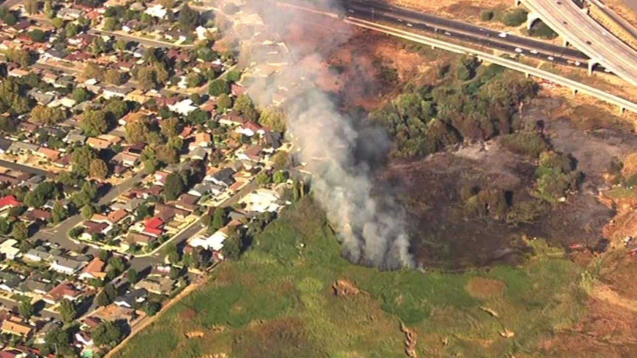 Vallejo brush fire