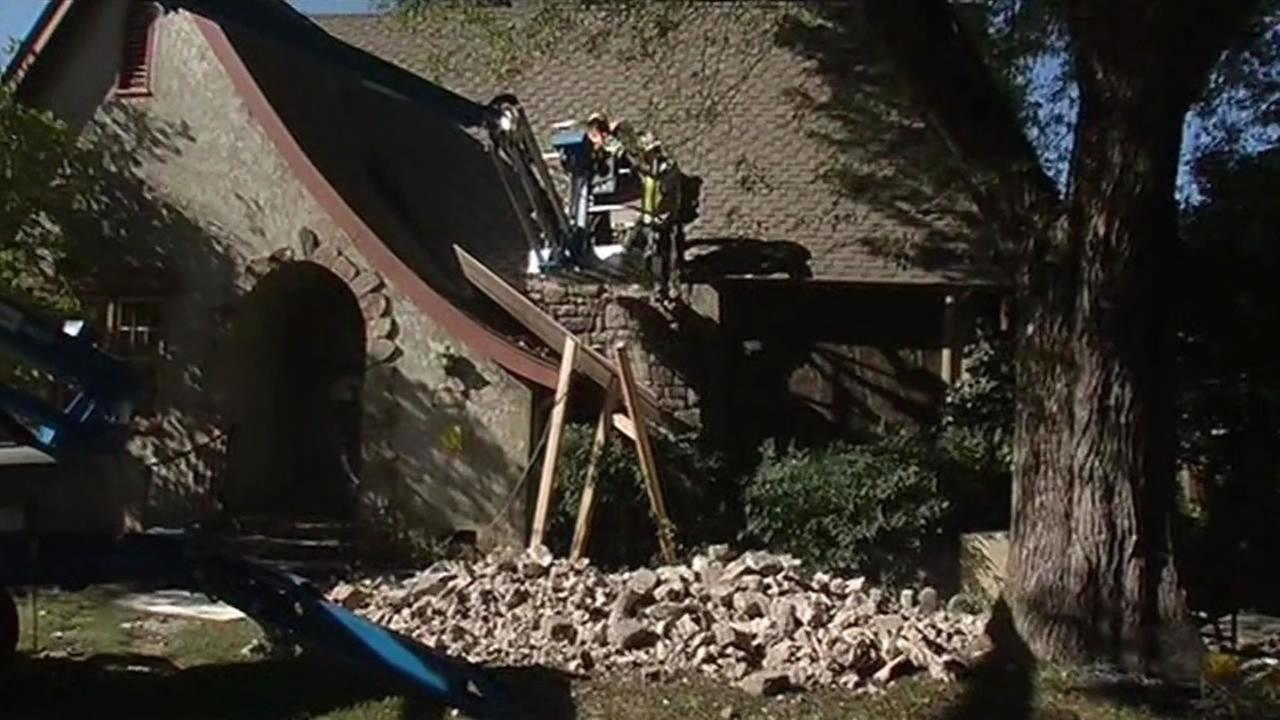 chimney had to be torn down from a Napa home