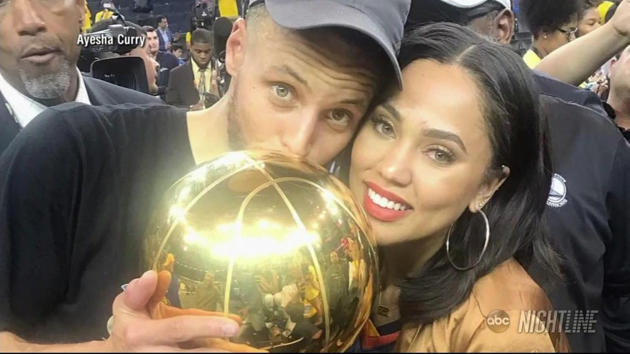 Warriors star Stephen Curry and his wife Ayesha Curry is seen in this undated image.