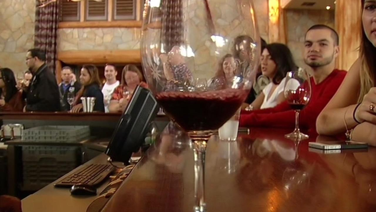 Wine glass in Napa, California