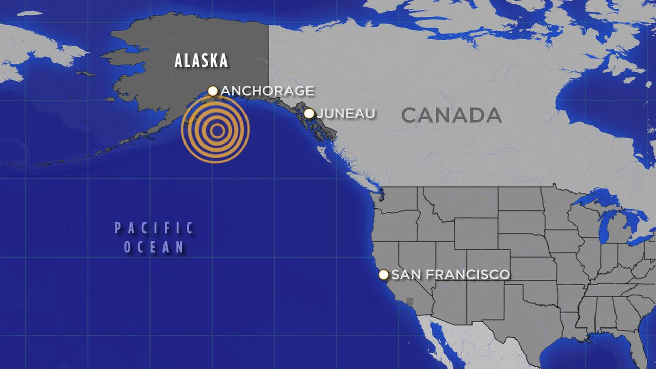 Alaska earthquake map