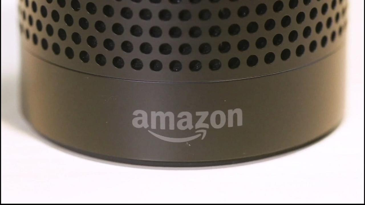 An Amazon Echo is seen in this undated image.