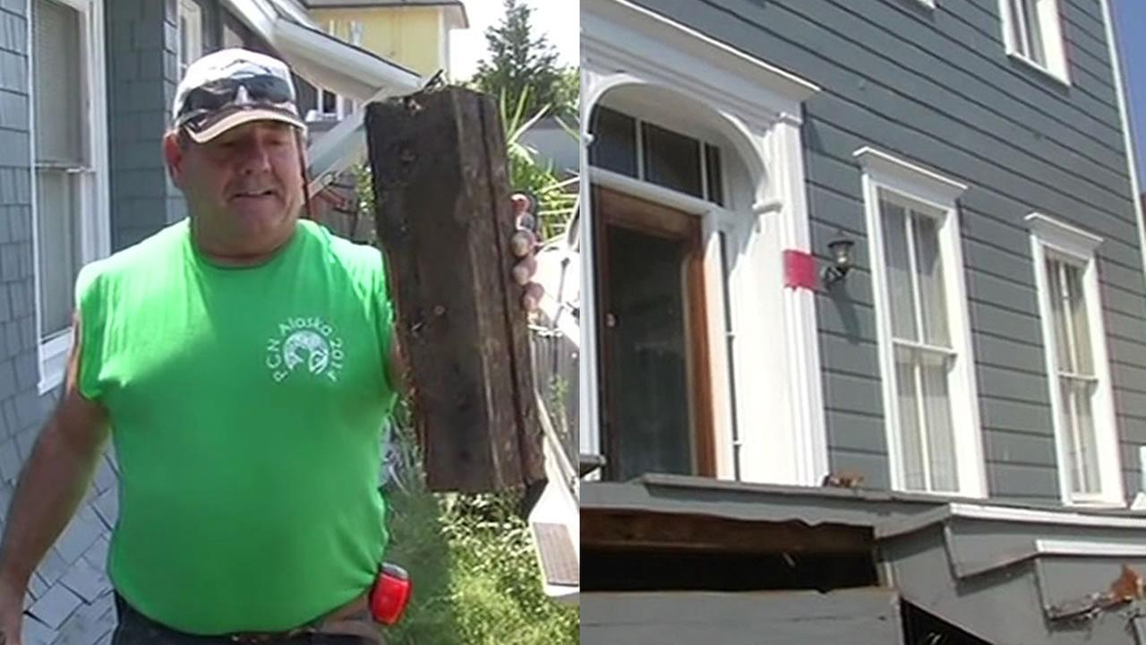 Gary Pearces home was knocked off its foundation in the Napa earthquake, but he is keeping his commitment to help Colorado flood victims rebuild.
