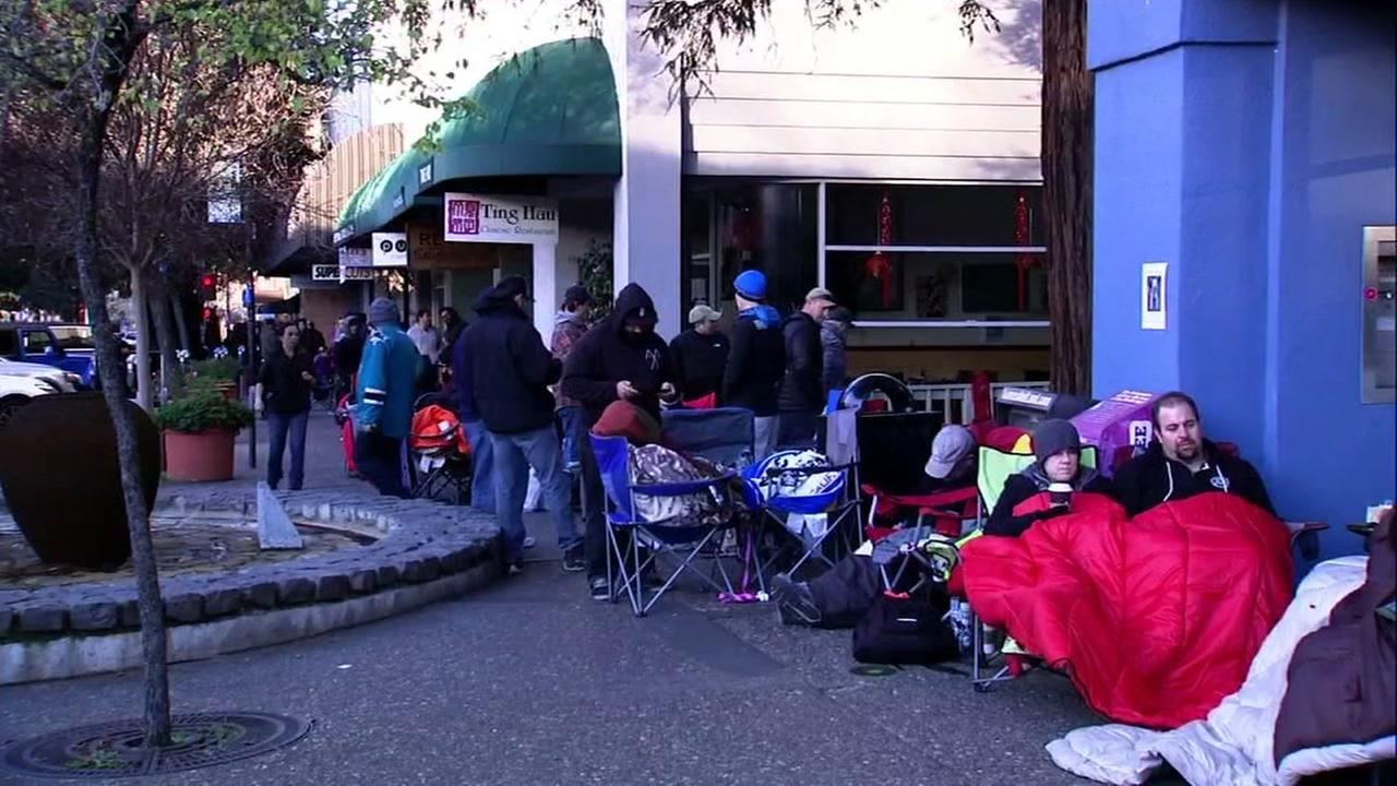 Line for Pliny the Younger in Santa Rosa, California, Friday, February 2, 2018.