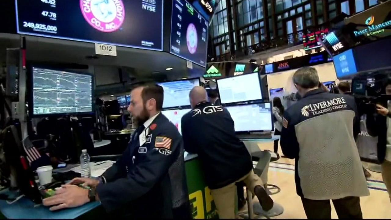 Floor traders are seen at the New York Stock Exchange in this undated image.