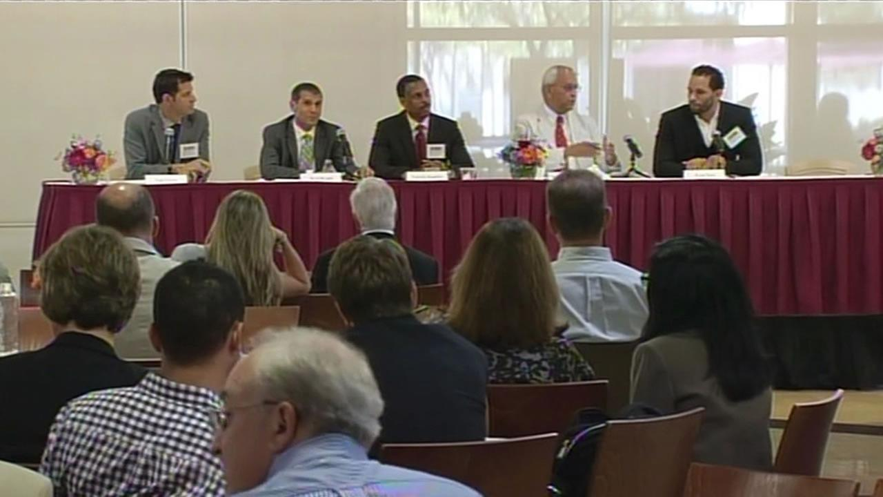 Domestic violence was the focus of a sports law and ethics symposium at Santa Clara University Thursday.