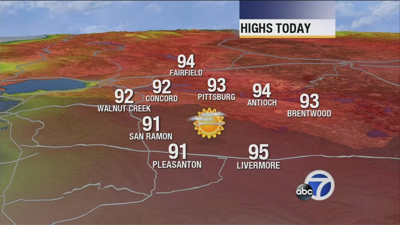 Bay Area weather forecast for Monday