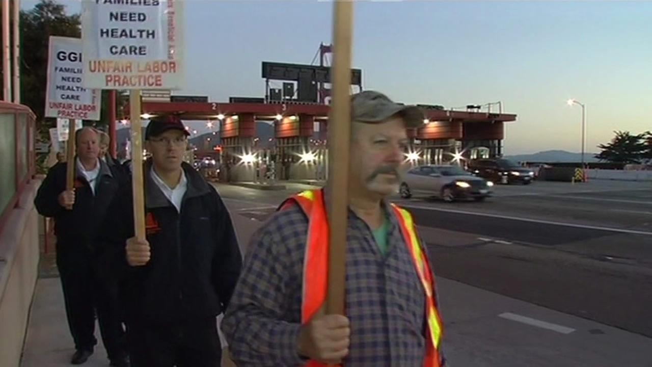Golden Gate Bridge workers go on strike