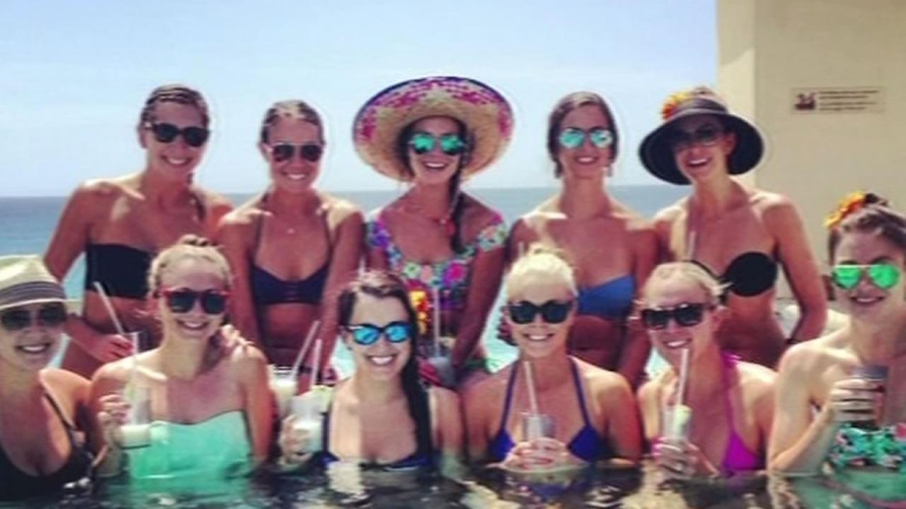 A group of young women attending a bachelorette party in Cabo get stuck in Hurricane Odile.