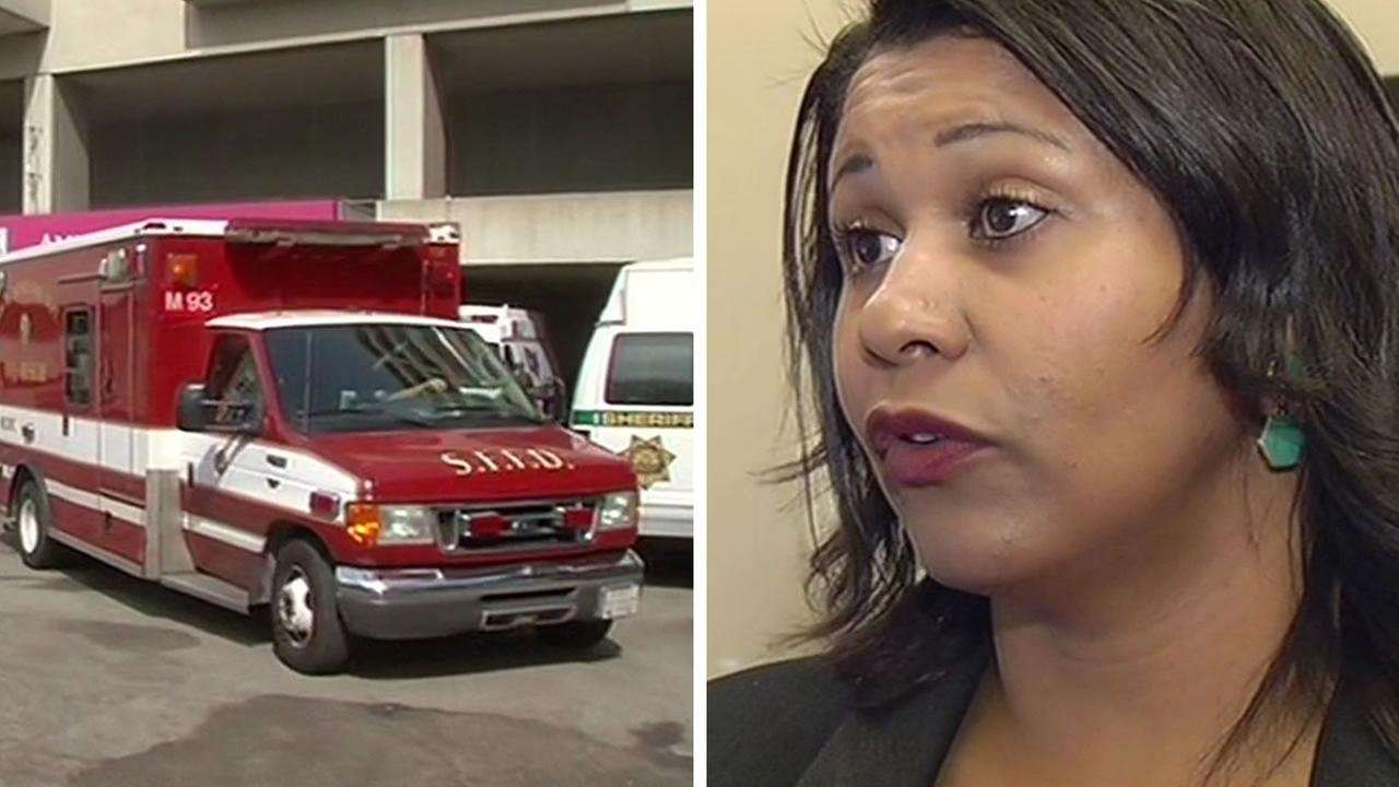 San Francisco Fire Department ambulance and Supervisor London Breed