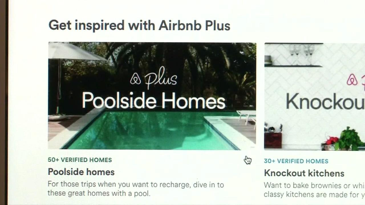 The Airbnb Plus site is seen in this image from Feb. 22, 2018.