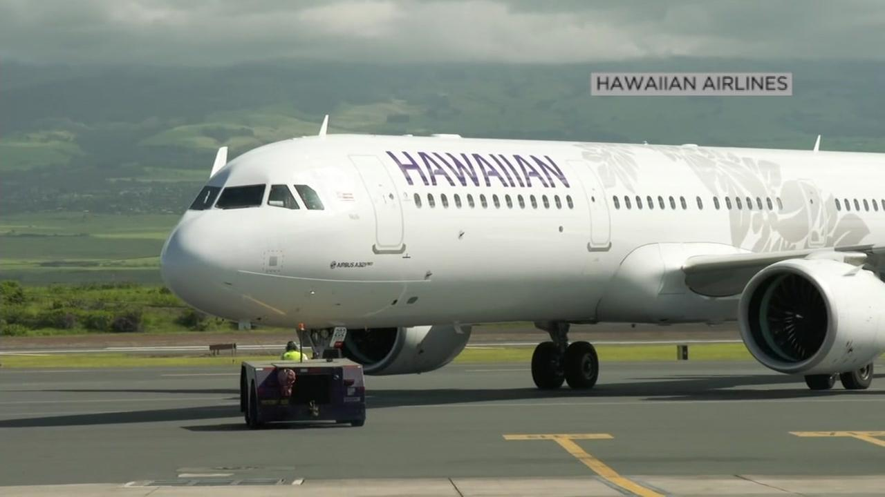 A Hawaiian Airlines plane is seen in this undated image.