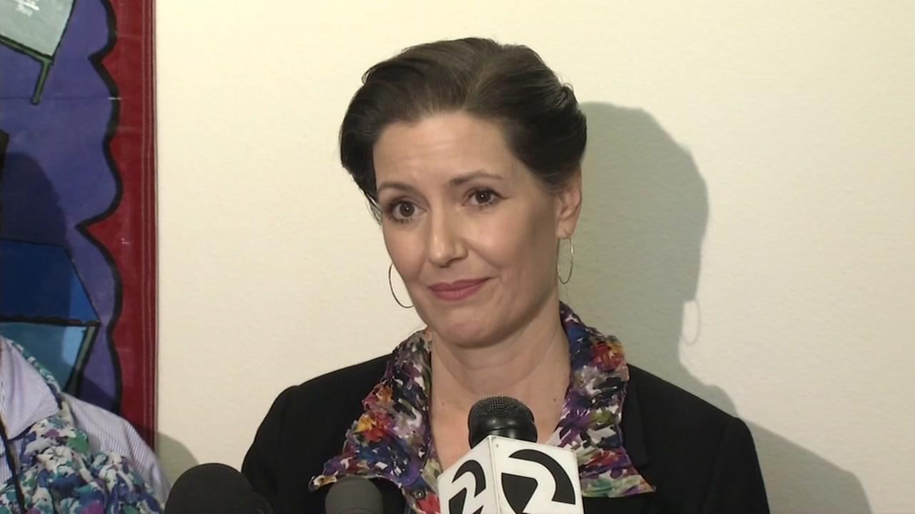 Oakland Mayor Libby Schaaf is seen during a news conference in Oakland, Calif. on Sunday, Feb. 25, 2018.