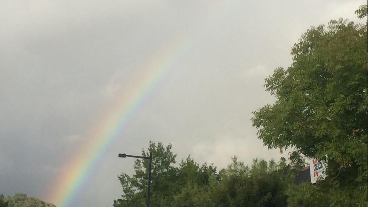Rainbow in Lafayette, California.