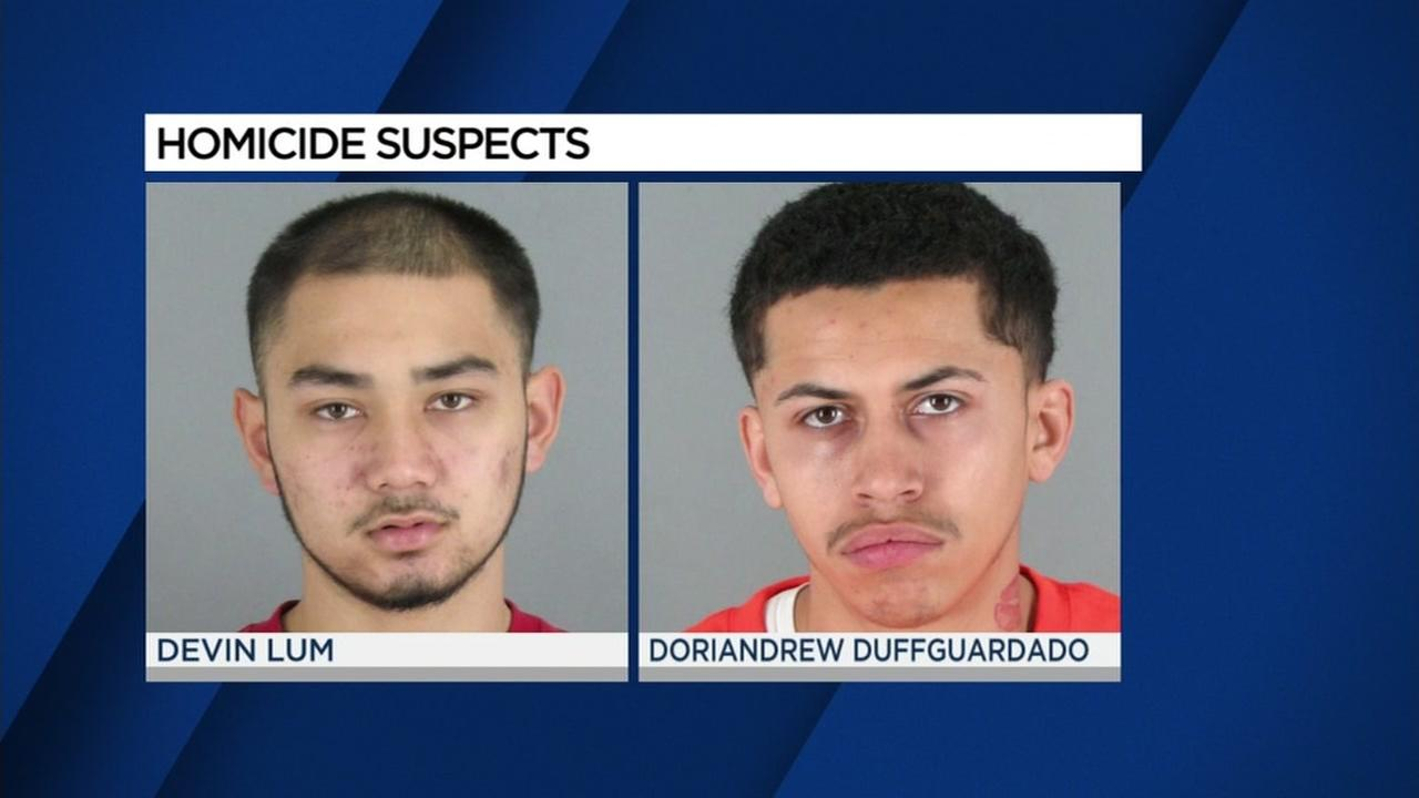 Devin Lum (left) and Doriandrew Duffgardo (right) are seen in these undated mugshot images.