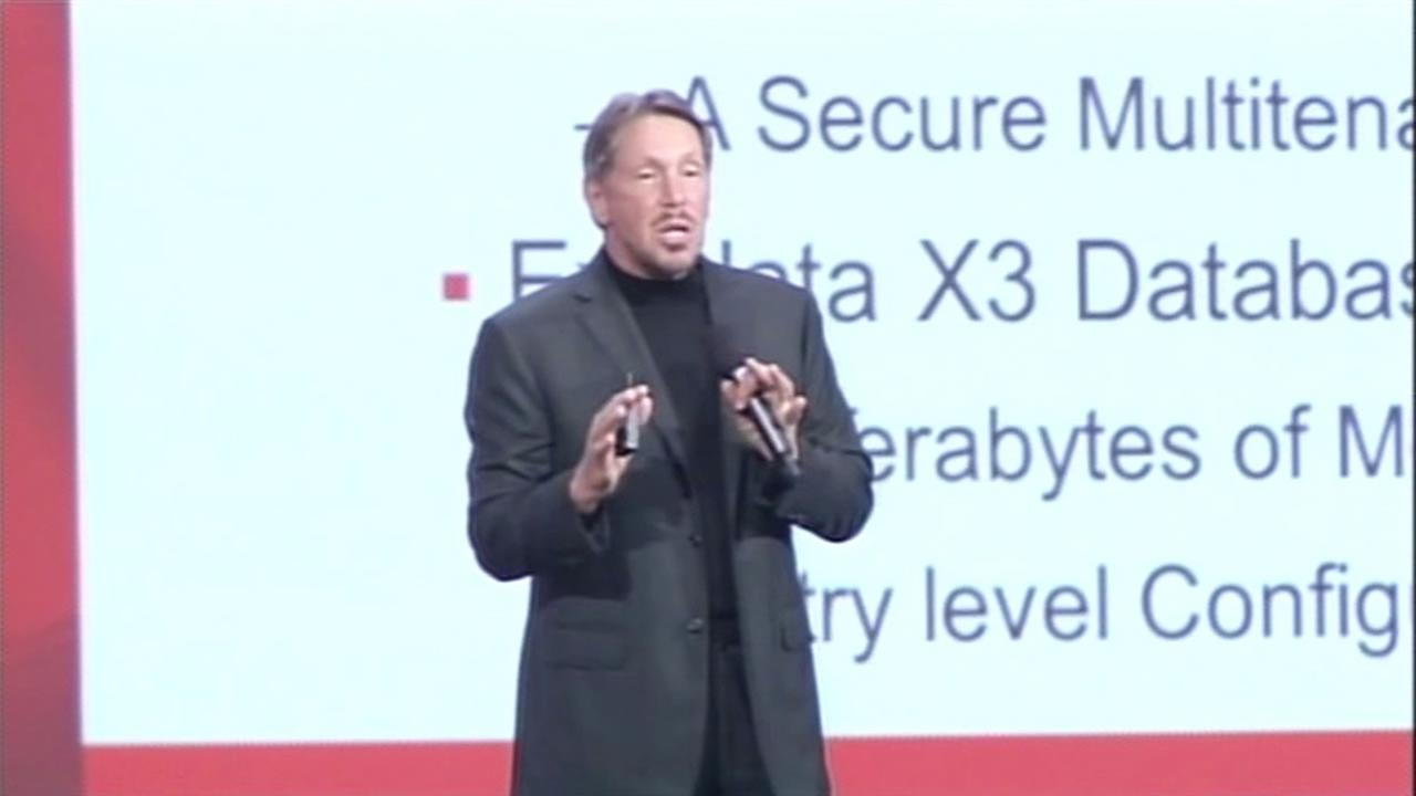 Larry Ellison steps down as CEO of Oracle and names two successors.