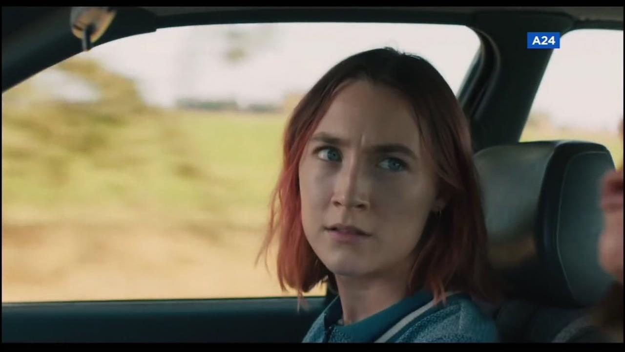 Lady Bird lead actress Saoirse Ronan appears in a scene from the Oscar-nominated film.
