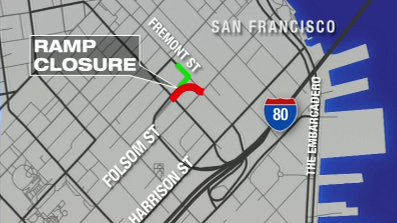 Folsom ramp closure in San Francisco