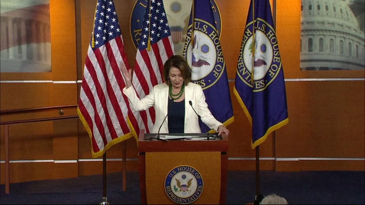 This is an undated image of House Minority Leader Nancy Pelosi.