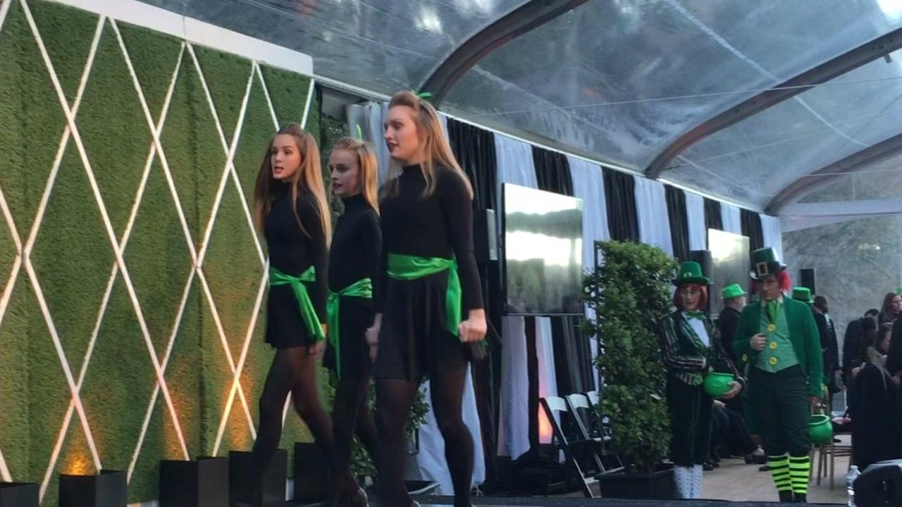 Irish dancers are seen at a fundraiser event in Woodside, Calif. on Saturday, March 17, 2018.