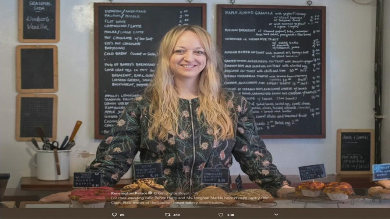 This is an undated image of Claire Ptak, the Inverness, Calif. native who has been chosen to bake the royal wedding cake for Prince Harry and Meghan Markle.
