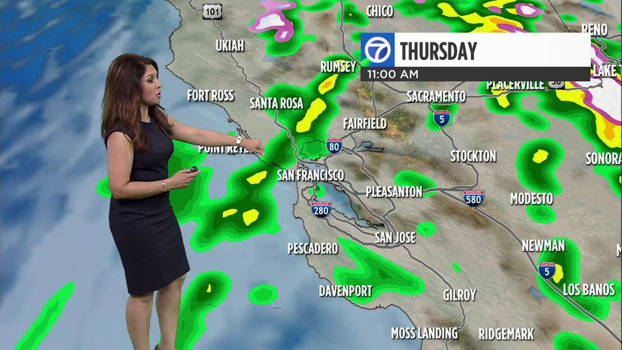 AccuWeather forecast for Thursday morning