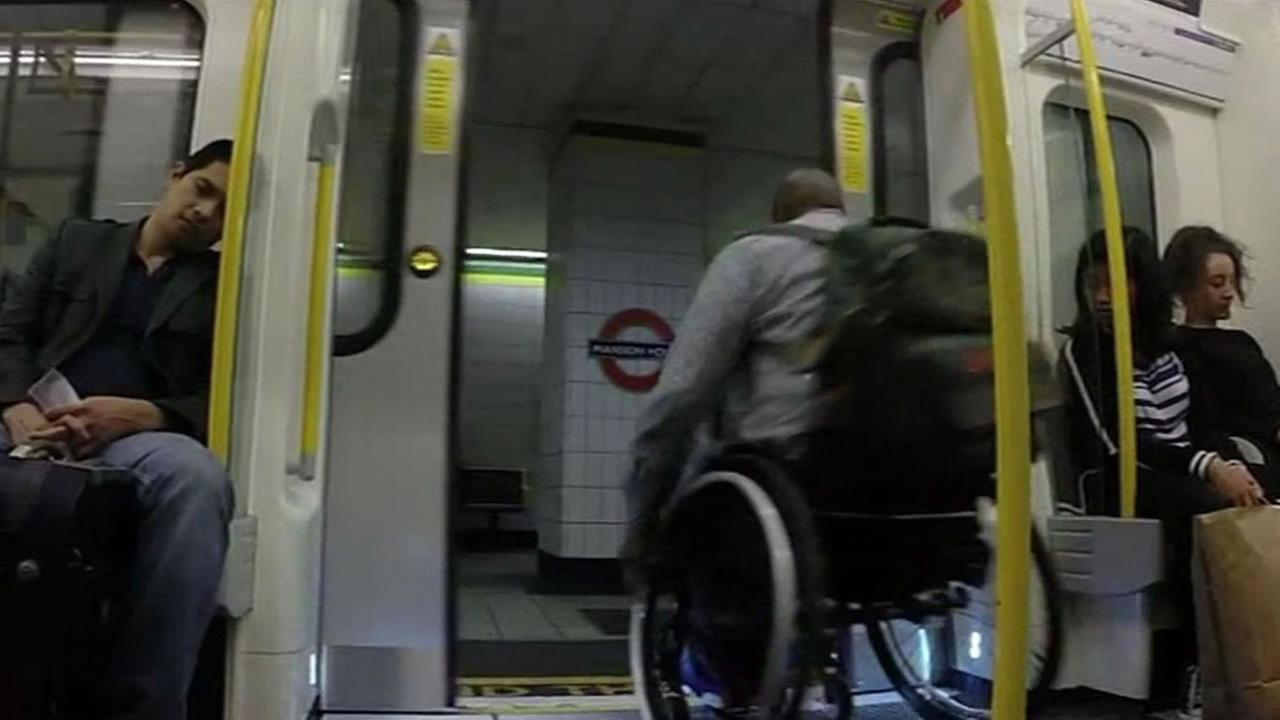 A London man is using a viral video to raise awareness about handicap access to the citys famous Tube stations.